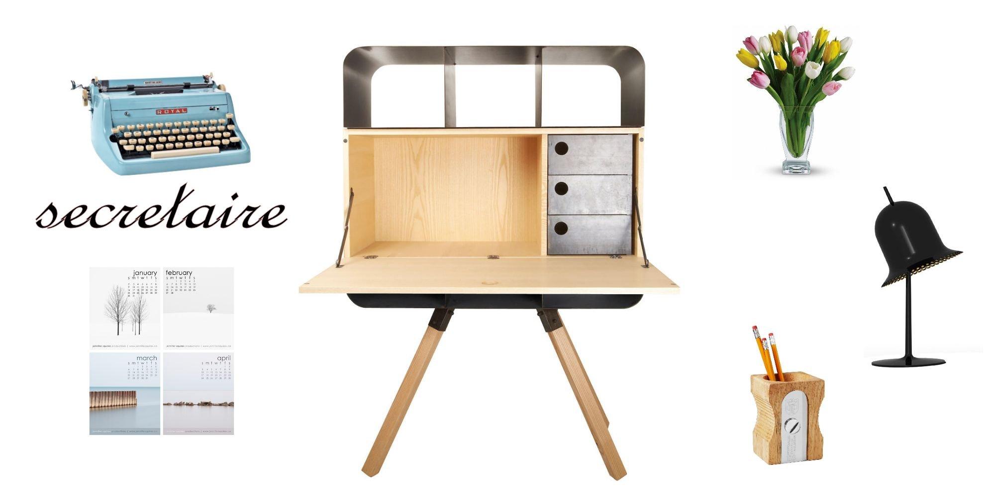 secretaire oramaj. Black Bedroom Furniture Sets. Home Design Ideas